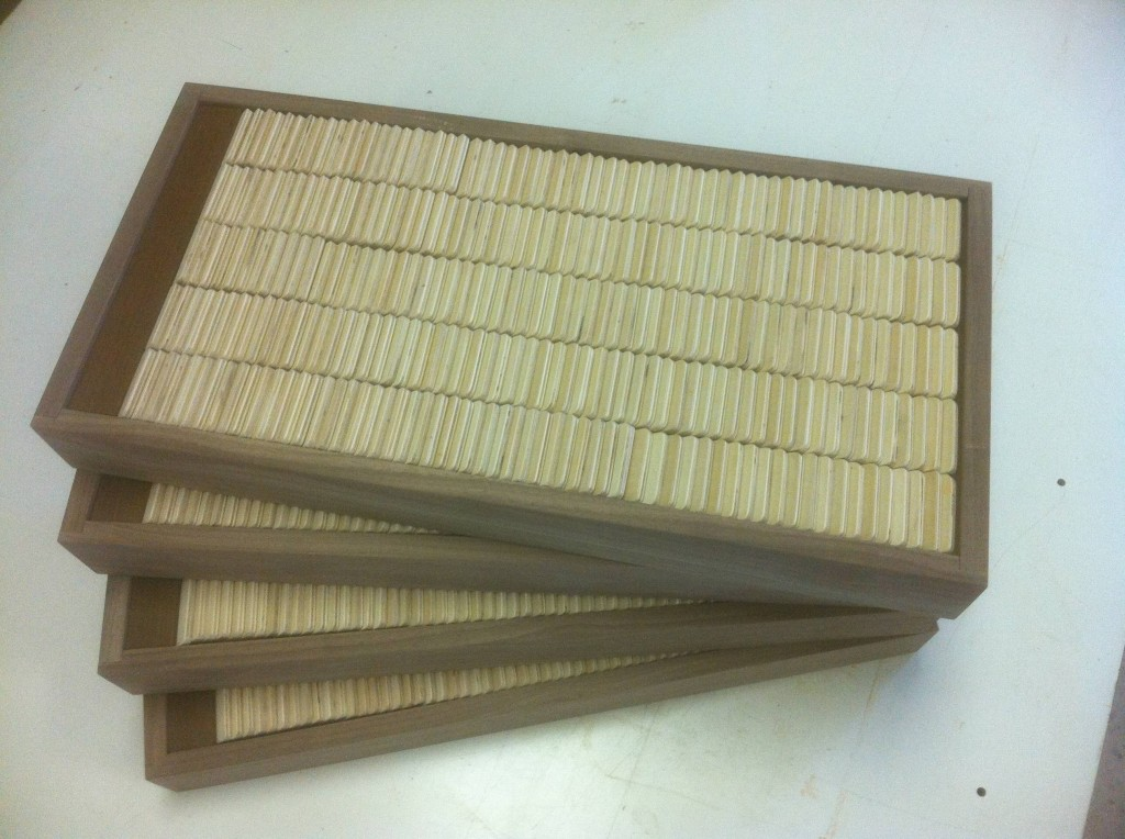 Walnut trays for the 1200 blanks.