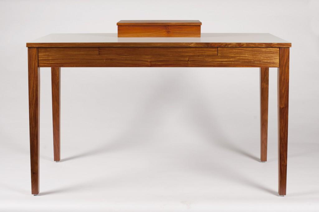 Narra and white laminate work desk for a graphic designer.