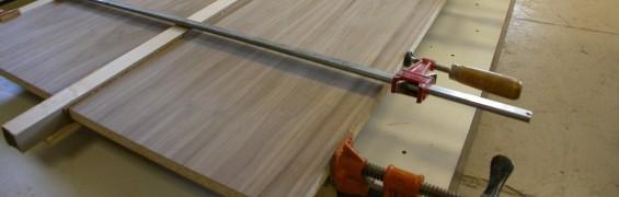 Walnut sliders getting edged